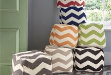 Chevron Decor / From chevron cushions to chevron pouffes; we love this zigzag pattern trend.  / by Feather & Black