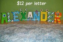 Monster Inc Letters / by Lisa Milliner Canavan