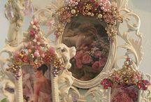 Jeweled Picture Frames and Mirrors / by Mary Gravelle