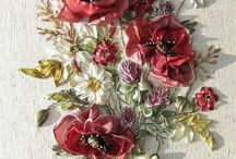 Ribbon embroidery / Ribbon hand made / by Macan Rosabal