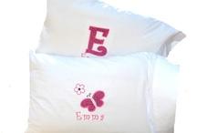 personalized pillow cases / by Kathy Klimczak
