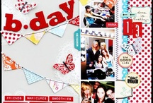 Scrapbook Layout Inspiration / by Meridy Twilling