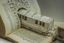 Boek/papierkunst / by Carla Van Galen