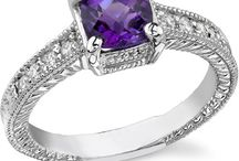 Amethyst Jewelry and Rings / by ApplesofGold.com