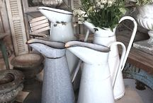 Home Decor ~ Enamelware  / One of my favorite things. Chippy. Rusty. Stunning. / by Ann Drake | onsuttonplace.com