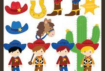 Cowboy & Western Cliparts, Printables and Party Ideas / by Mygrafico Digitals