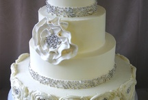 Wedding white with a touch of bling / by Ellen Bartlett (Cakes to Remember)
