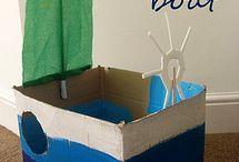 Cardboard Box Fun / by Tiffany Crawford