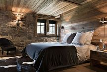 Cabin bedroom / by Holly Bouslough