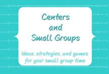 Centers and Small Groups / Activities for centers and small groups.  Please include a product's price if posting a paid item.  / by Tessa Maguire