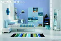 Blue Rooms / This color is one of my personal favorites.  Blue, it's calming. It takes my kind of crazy and bring calm.  Enjoy! / by skip to my room