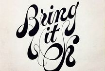 pretty lettering / by Rick Beerhorst