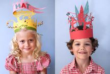 party hats, crowns, and masks / by Jessica Cahoon / fort & field