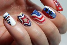 Fun Fourth of July Nail Art! / Looking for a patriotic new look for the 4th of July? Look no further than these amazing designs! / by Today's Warm 106.9
