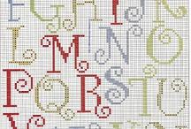 Cross Stitch Alphabets / by Sheila Leistner