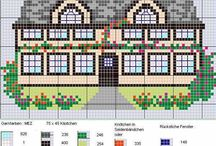Cross Stitch Homes (mini) / Homes, mini charts for use in borders / by Velle Mere Lyons
