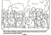 BIBLE COLORING Pages for Kids / Coloring Pages to go along with many of the Bible Stories for Sunday School lessons, kids' VBS. kid's camp or any time.  / by Cathy Torrey