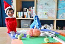 Elf on a Shelf Ideas / Find a variety of crafty elf on a shelf ideas and learn how to do elf on a shelf. / by AllFreeChristmasCrafts