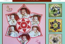 Rosette Stencil / This Board shows different Photo Collage layouts all using the Rosette Stencil as the design template. / by Lea France Scrapbooking (Photo Collage)