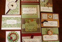 one sheet wonder cards / by Donna Adams