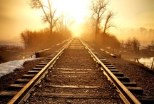 TRAINS AND TRACKS ABANDONED / by Bonnie Westerling
