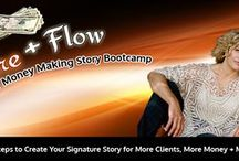 RACHEL RESNICK'S FIRE AND FLOW WRITING BOOTCAMP / Want more clients? more money? and more fun? It starts with your story. www.yourmoneymakingstory.com  http://bit.ly/TH7vNW / by Jean Compton