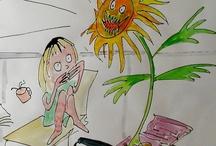 Sunflowers / by Michelle de Villiers Art and Stories