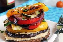 Grilled Vegetables / Yummy looking grilled vegetables. These veggies are grilled on a BBQ or indoor grill. / by Tazim Damji BeingTazim.Com