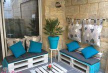 Pallets para um Terraço de Sonho / Espaços exterior transformado em loungue com a reutilização de #paletes  Veja mais-> http://maispaletes.com / by MaisPaletes .com