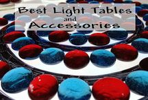 Light table products and play activities  / by Hera Hermes