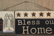Primitive Wood Signs / by Allyson's Place