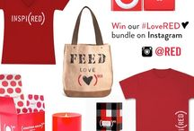 LOVE (RED) SAVE LIVES / 5 Valentine's Day gift ideas. And we love you so much, you can win them all on Instagram. Here's how: http://bit.ly/1kx2Fgv / by (RED)