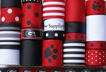 HSE Collegiate / Your One-Stop Hairbow Supply Shop!  Solid and printed grosgrain ribbon, alligator clips, silk flowers, 60 styles of fold over elastic, glitter elastic, lace elastic, rhinestone buttons, and so much more!   / by Hairbow Supplies, Etc.