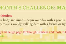 Wellness: The Positive Six Challenge / Each month—May through October, 2014—we'll feature a new +6 challenge aimed at strengthening connections to your health, relationships, and community. / by DBSA (Depression and Bipolar Support Alliance)