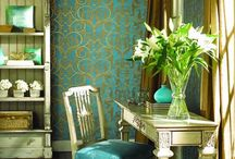 Aqua and gold rooms / by American Commune