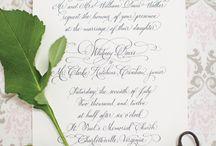 Calligraphy - Alessandra & Alessandro / by MyItalian Wedding