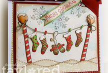 Merry and Bright cards/tags / by Eileen Flannery