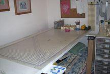 Crafting Area in Spare Bedroom / by Kathy Brink