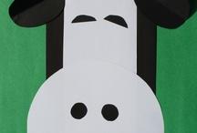 Preschool Theme- Cows/Dairy / Ideas for a farm unit or nutrition unit. June is national dairy month / by Amanda Kunzeman