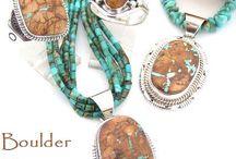 Boulder Turquoise Jewelry / Boulder Turquoise Jewelry | Four Corners USA OnLine | Native American Jewelry Store / by Four Corners USA OnLine