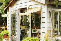 Gardens/potting sheds/greenhouses / by Barbe