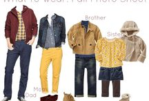 Photography : What to wear for portrait session / Great outfit and color combos / by Schona Kessler
