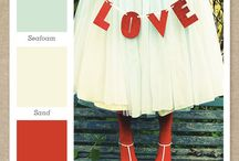 Colors-Red and aqua love / by Kenna Macky