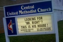 Funny Church Signs / http://www.facebook.com/JesusDaily  / by Jesus Daily