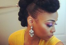Natural Hair Updo's / by Sheila Wilmore-Butler