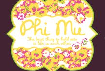 Phi Mu / by Peyton Fields