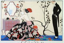 Art Deco / The style is often characterized by rich colors, bold geometric shapes and lavish ornamentation. First appeared in France during the 1920s, flourished internationally during the 30s and 40s,  / by Sharla Hicks