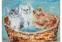Kitty Cats # 1 / So cute,so sweet,so lovable.Nothing like a cat or kitten sleeping on the bed. / by Sylvia Moore
