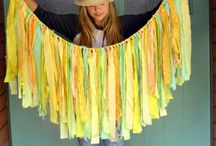 Garland and Banners *fabric*paper*coffee filter / by Wendi Scharrer