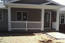 Front porch and back deck / by Angie Evans